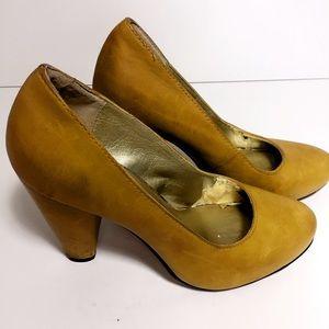 Seychelles Shoes - Seychelles yellow pumps size 6.5